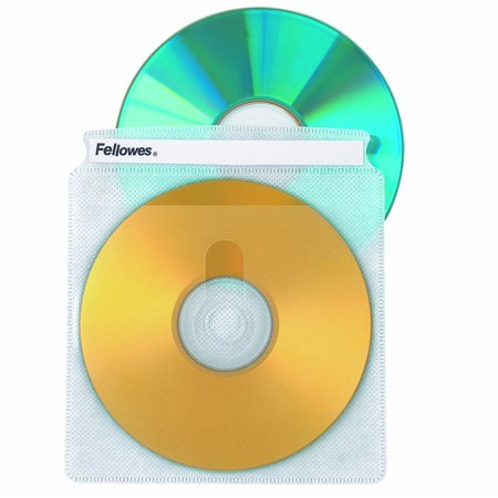 - CD Sleeves 100 CD Capacity Clear Vinyl Double Sided-50-Pack, Double-sided sleeves hold 2 CDs/DVDs without jewel cases By Fellowes