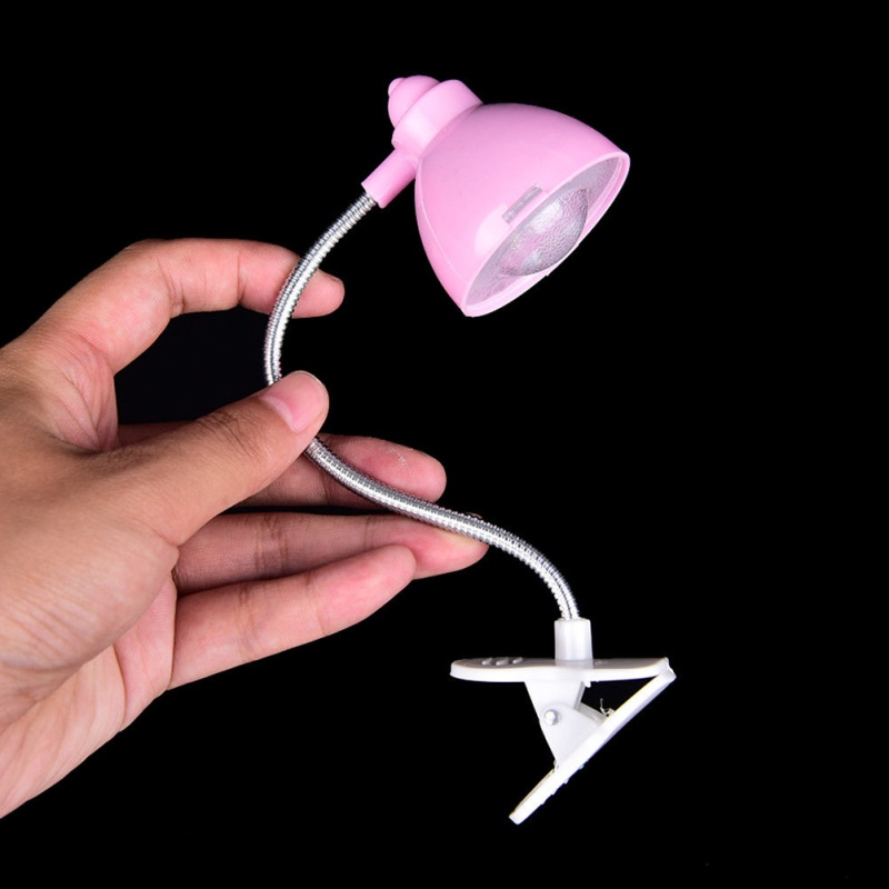 Adjustable Clip On Book Reading Light Eye Protection Mini LED Bedside Table Lamp Color:white Size:5 * 4.5 * 18CM