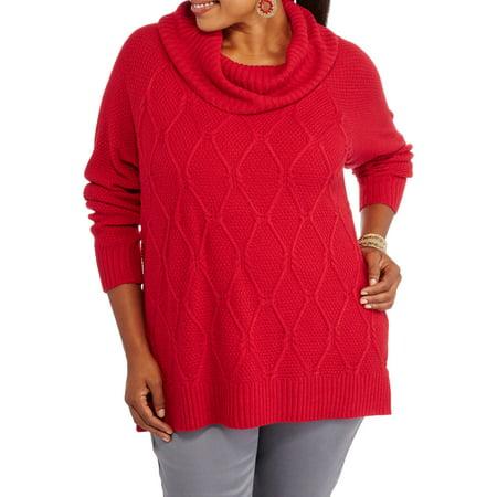 Size cowl neck sweaters plus ladies