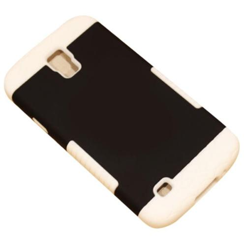 Insten Hard Hybrid Rubber Silicone Cover Case For Samsung Galaxy S4 Active - Black/White