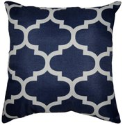 mainstays fretwork decorative pillow - Blue Decorative Pillows