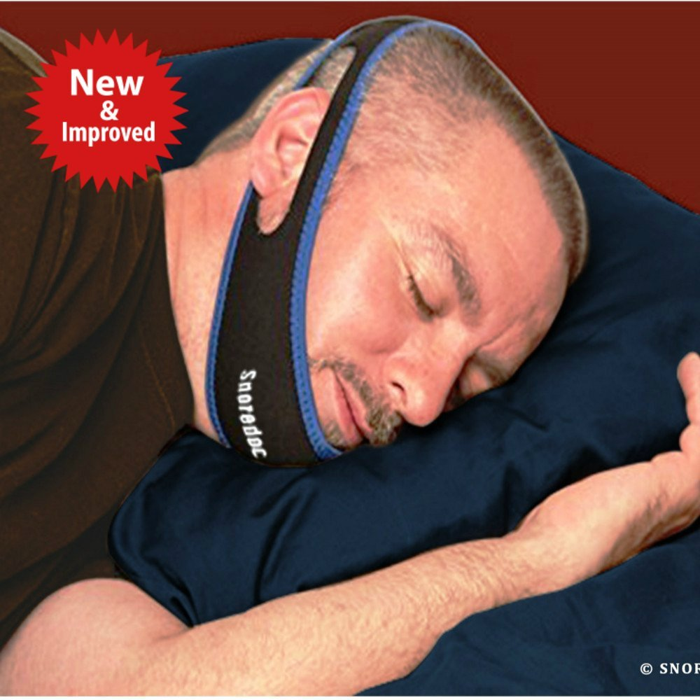 SnoreDoc NEW AND IMPROVED Snore Stopper Chin Strap – Anti Snoring Solution – Natural And Instant Snore Relief Sleep Aid Device