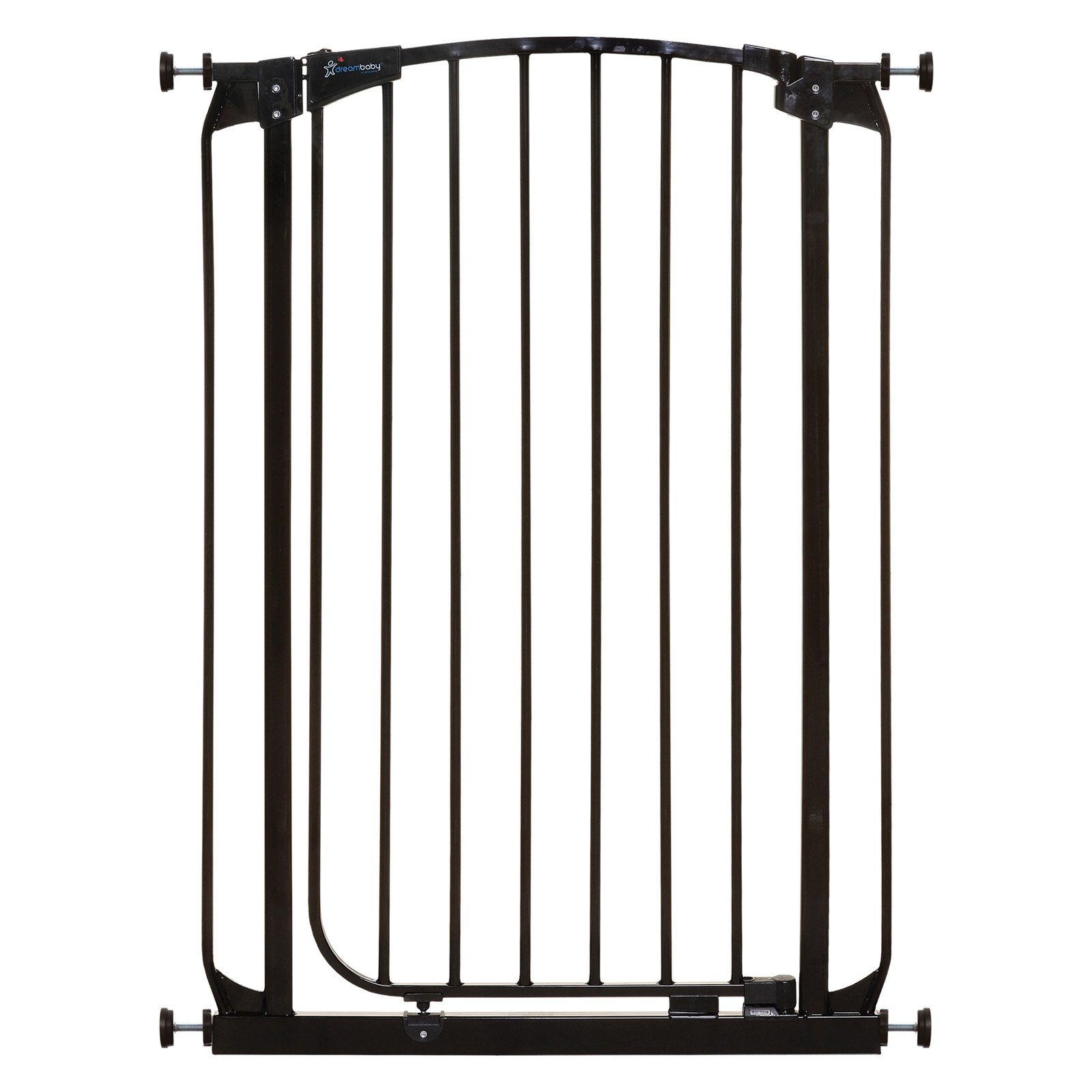 "Dreambaby Black Chelsea Tall 28""-35"", 2 Baby Gates & Extensions"