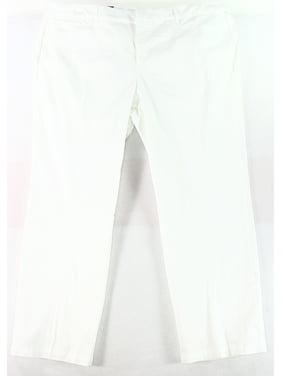 f9b96652f7f Product Image JM Collection NEW White Women 24W Plus Straight-Leg  Tummy-Control Pants