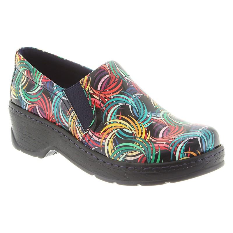 Klogs Footwear Naples Women's Shoe, Spinwheel Patent, 9