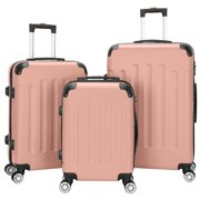 Best Suitcases - UBesGoo 3Pcs Luggage Set Bag ABS Trolley Hard Review