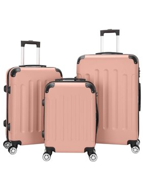 UBesGoo 3Pcs Luggage Set Bag ABS Trolley Hard Shell Suitcase Travel w/TSA lock