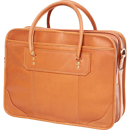 Clava Leather Top Handle Laptop Briefcase