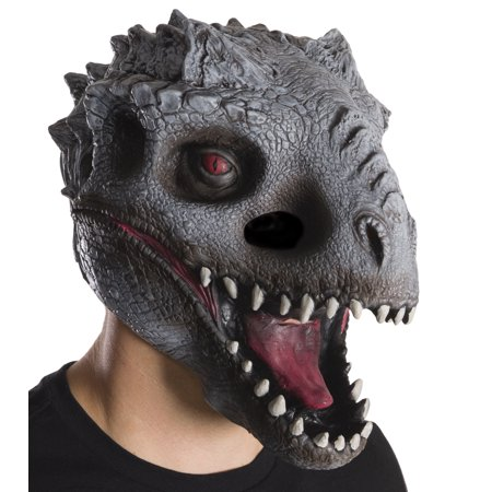 Jurassic World: Indominus Rex 3/4 Mask For Adults, One Size Halloween - Masks For Halloween Cheap