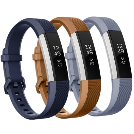 - Moretek For Fitbit Alta Replacement Bands, Adjustable Sports Silicone Watch Strap With Stainless Steel Buckle for Fitbit Alta (3pcs, Small)