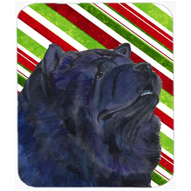Carolines Treasures SS4570MP Chow Chow Candy Cane Holiday Christmas Mouse Pad, Hot Pad Or Trivet - image 1 de 1