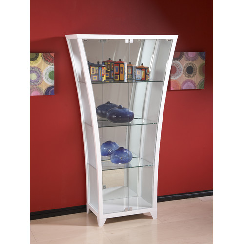 Lovely Chintaly Imports Flair Lighted Curio Cabinet