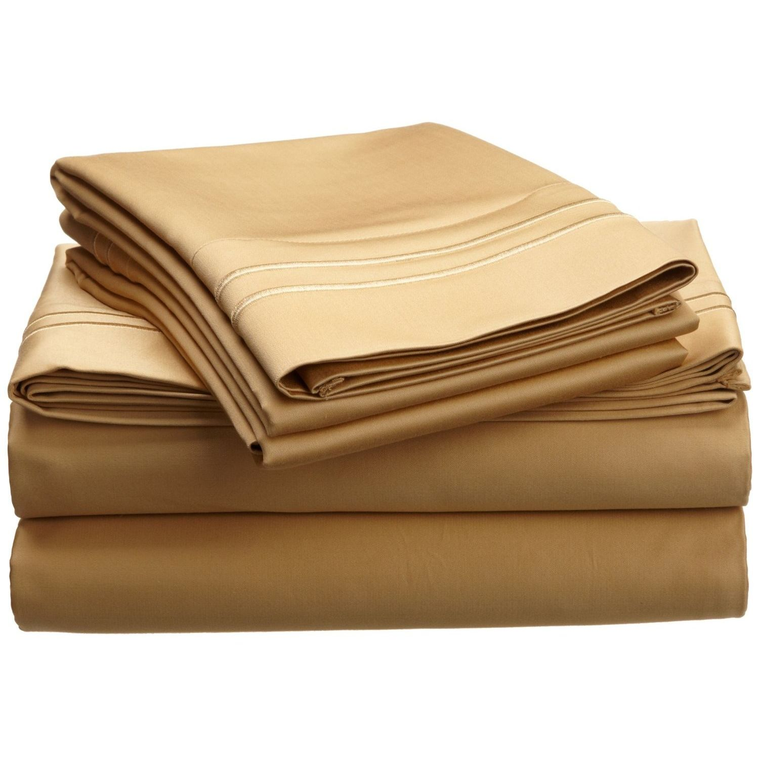 Superior 800 Thread Count Egyptian Cotton Solid Sheet Set With Embroidery