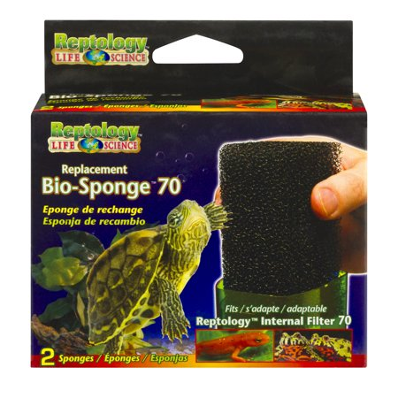 Penn Plax Reptology Life Science Replacement Bio Sponge 70  2 0 Ct