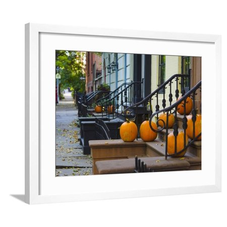 USA, New York, Brooklyn, Brooklyn Heights, Halloween Pumpkins Framed Print Wall Art By Alan Copson](Brooklyn's Denver Halloween)