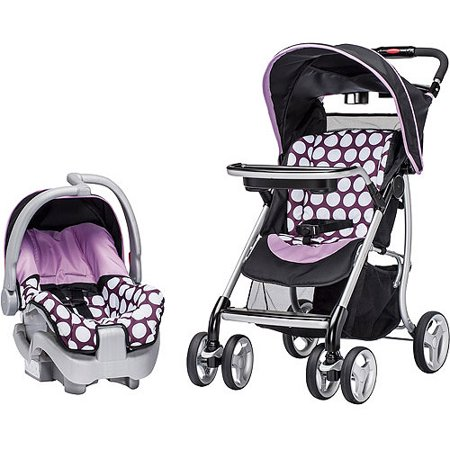 evenflo journey lite travel system polka dottie purple. Black Bedroom Furniture Sets. Home Design Ideas