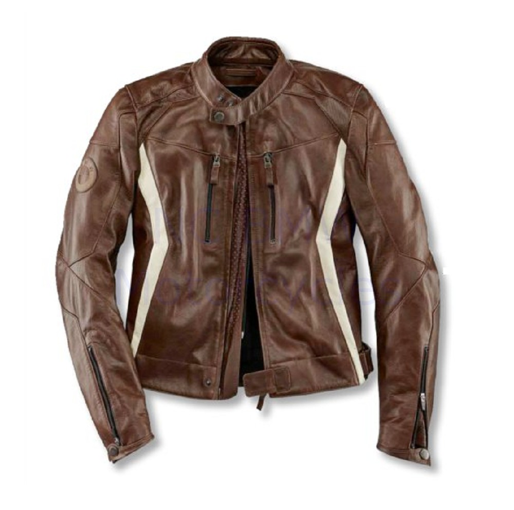 BMW Genuine Motorcycle DoubleR Mens Brown Jacket Euro 48 US 38