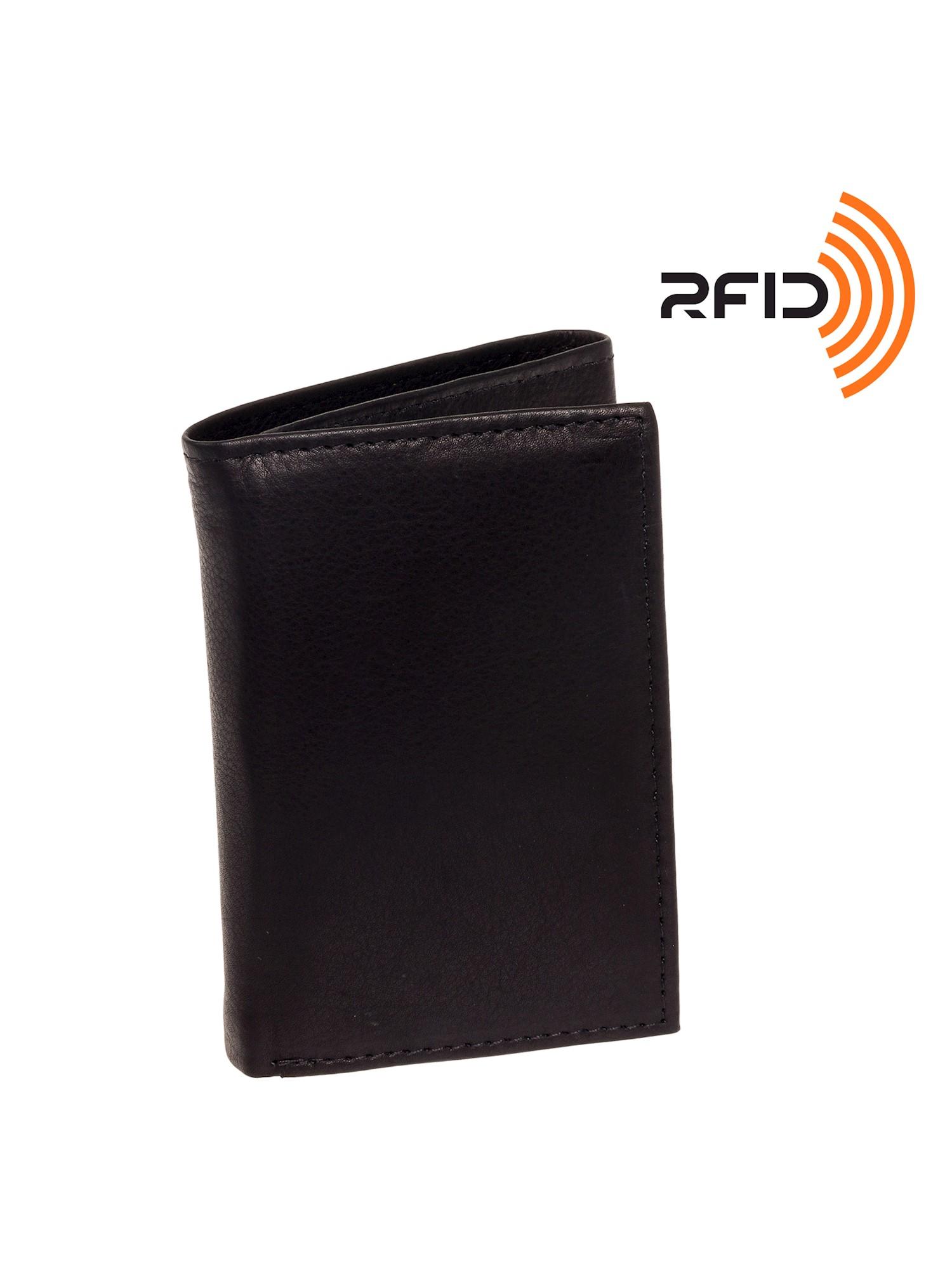Men's Top Grain Cowhide Leather RFID Trifold Billfold Wallet
