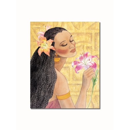 African American Black Girl and Flowers #2 Contemporary Wall Picture 8x10 Art Print
