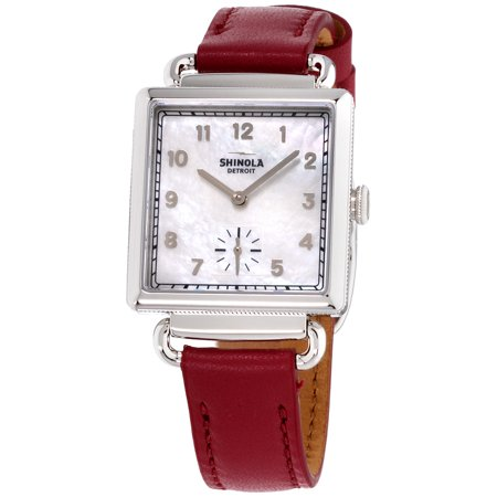 Series Mother Of Pearl Dial (Shinola The Cass Mother Of Pearl Dial Leather Strap Ladies Watch)