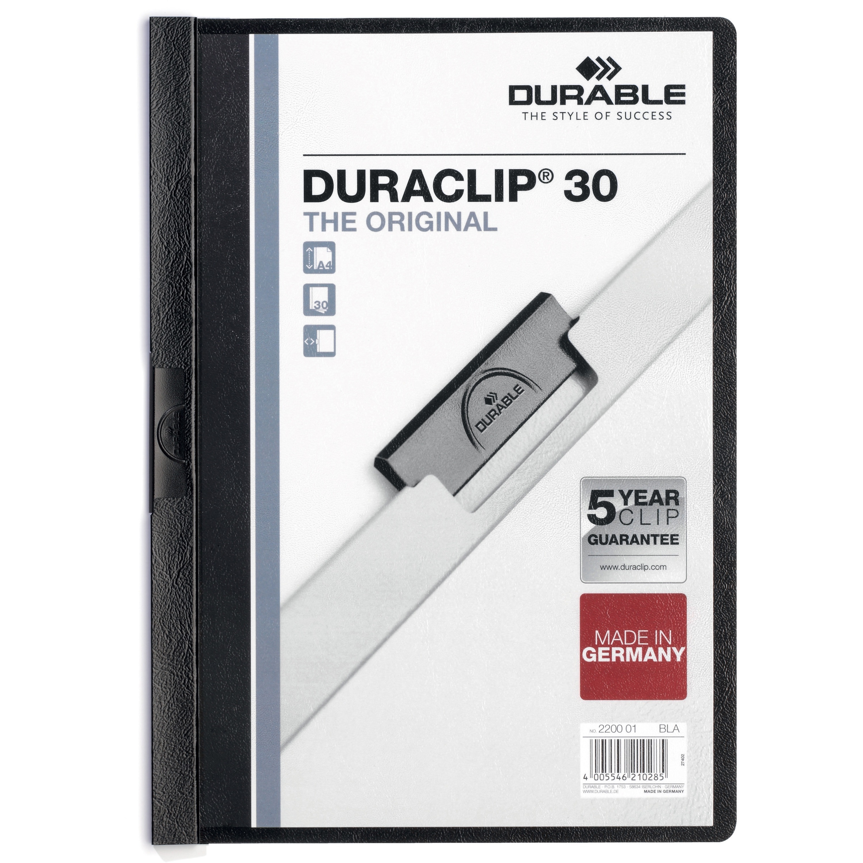 DURABLE, DBL220301, Duraclip Report Covers, 1 Each, Black