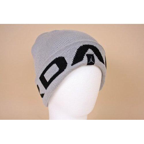 ba104c02578 ... free shipping nike jordan jumpman youth boys logo silver beanie hat  a1a69 41d75