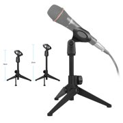 Tripod Desktop Microphone Stand Holder,EEEkit Lightweight Stable Collapsible Desktop Microphone Stand,Adjustable Height 7.08 to 9.45 inches, for Lectures,meetings,Online Chat