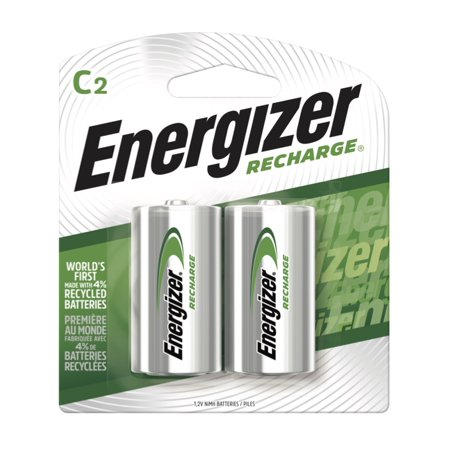 Energizer Recharge Universal Rechargeable C Batteries, 2 Pack (Energizer Recharge)