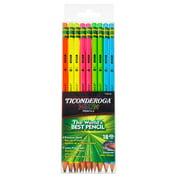 Ticonderoga Neon Wood-Cased Pencils, Assorted Colors, 18 ct