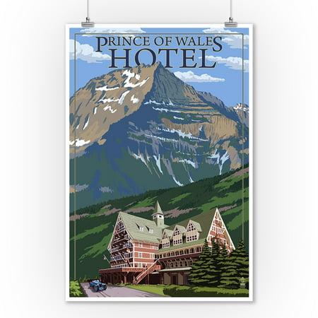 Waterton National Park, Canada - Prince of Wales Hotel - Lantern Press Artwork (9x12 Art Print, Wall Decor Travel - Canadian National Hotels