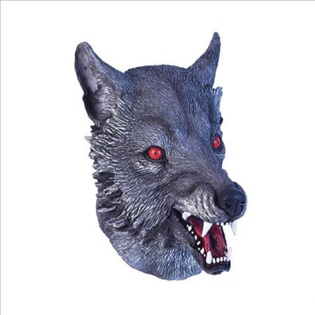Wolf Latex Mask (Grey Adult Latex Wolf Werewolf)