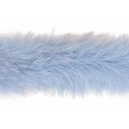 2 Yards - Light Blue Marabou Feather Boa 25G (Light Up Feather Boas)