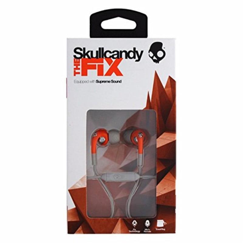 Skullcandy Fix with Mic3 Earphones/Earbuds Premium Headphone - Athletic Orang...