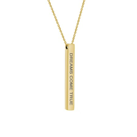 Anavia Motivational 4-Sides Bar Necklace Stainless Stee Christmas Gift for Her Inspirational Jewelry Gift for Her 18