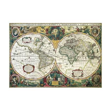 Nova Totius Terrarum Orbis Geographica Ac Hydrographica Tabula Print Wall Art By Henricus -