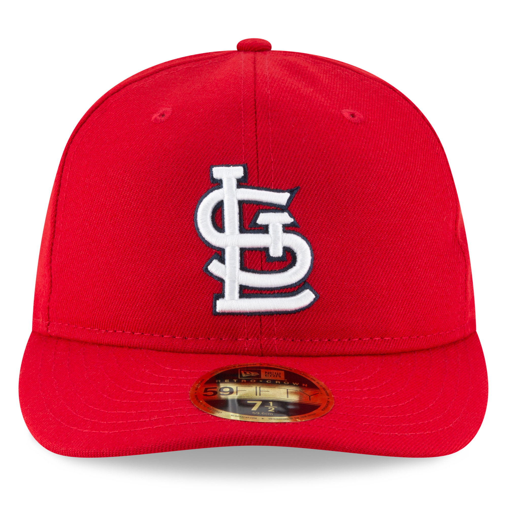 ba351cd8bcd St. Louis Cardinals New Era Fan Retro Low Profile 59FIFTY Fitted Hat - Red  - Walmart.com