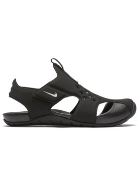 882b71ee9247 Product Image Boys  Nike Sunray Protect 2 (PS) Preschool Sandal Black White  11C