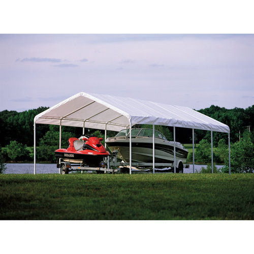 Super Max 12' x 30' 6-Rib Canopy White Cover by ShelterLogic