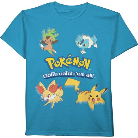 6aee4af63 Pokemon - Boys Pokemon Short Sleeve T-Shirt Blue - Walmart.com