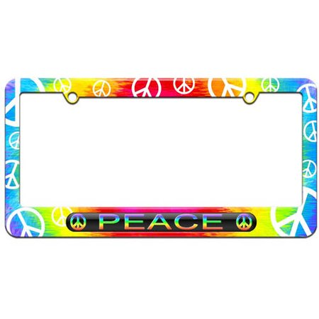 Peace, Signs Rainbow License Plate Tag Frame, Multiple Colors ...