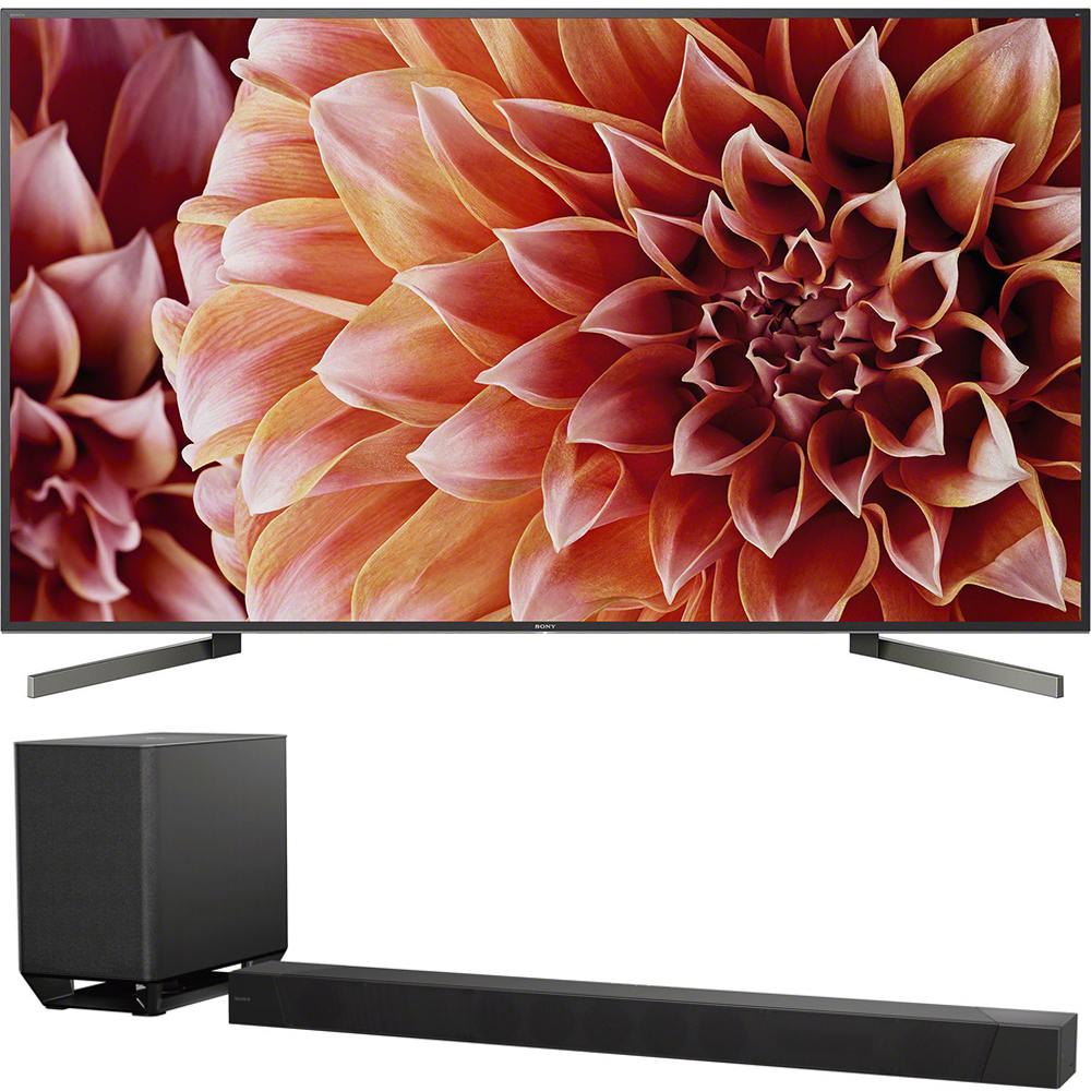 Sony 85-Inch 4K Ultra HD Smart LED TV 2018 Model (XBR85X900F) with Sony 7.1.2ch 800W Dolby Atmos Sound Bar