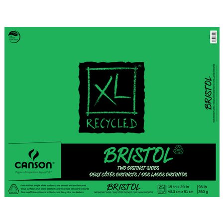 Canson XL Recycled Bristol Pad, 19in x 24in, 25 Sheets/Pad