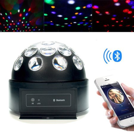 LED Disco Ball Light with Bluetooth Speaker, Remote Control and Color Changing - Disco Ball Color