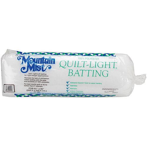 """Quilt-Light Polyester Batting, Full Size 81"""" x 96"""