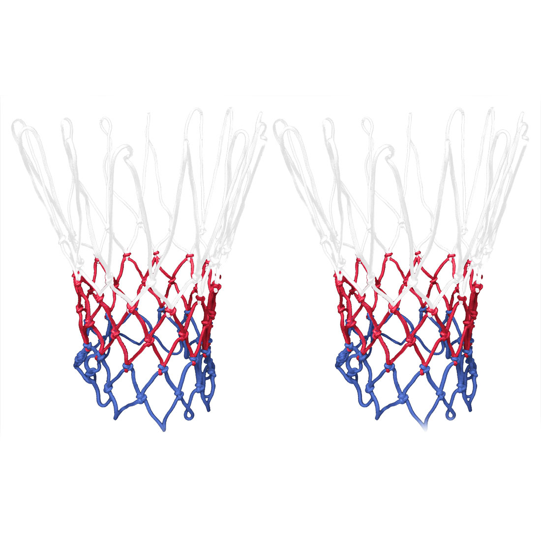 "Unique Bargains 2 Pcs 20"" Long Durable Sporty Nylon Basketball Nets XB8621"