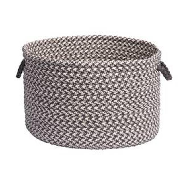 Outdoor Houndstooth Tweed - Gray Utility Basket 18''x12''