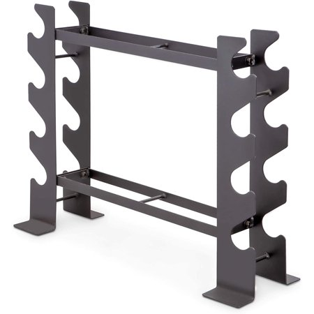 Marcy Compact Dumbbell Rack Free Weight Stand for Home Gym DBR-56- Steel