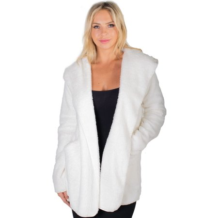 Women's Teddy Faux Shearling Hooded Jacket