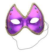 Mardi Gras Eye Costume Mask: Purple