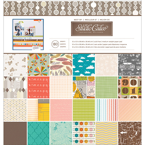 "American Crafts 12"" x 12"" Best of Paper Pad, 180 Sheets"